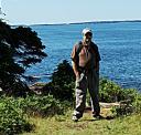 Brad at Otter Point Acadia NP